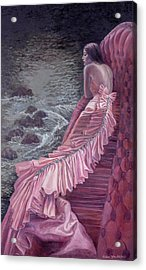 Pink Taffeta Acrylic Print by Barbara Tyler Ahlfield