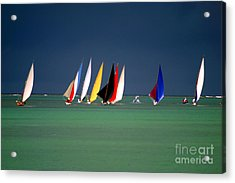 Pirogues On The Horizon In Front Of Acrylic Print