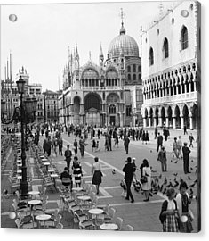 Place, San Marco Place At Venise In Acrylic Print