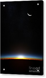 Planet Earth From Space As The Sun Acrylic Print