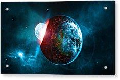 Planet Impact Acrylic Print