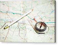 Planning A Hike Acrylic Print by Rapideye
