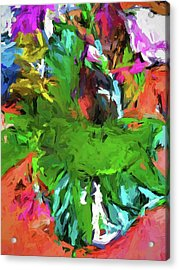 Plant With The Green And Turquoise Leaves Acrylic Print