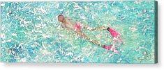 Acrylic Print featuring the painting Playful by Eva Konya