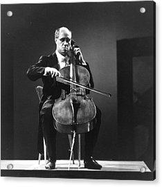 Playing Cello Acrylic Print