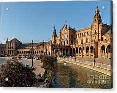 Plaza De Espana Bridge View Acrylic Print