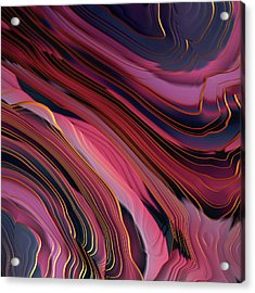 Plum Abstract Acrylic Print