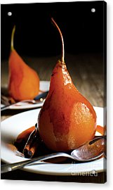 Poached Pears With Cinnamon Syrup Acrylic Print