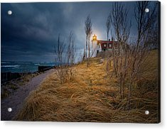 Point Betsie Lighthouse In Frost Acrylic Print