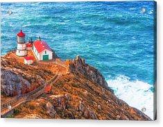 Point Reyes Lighthouse Acrylic Print by Fernando Margolles