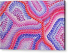 Pointillism - Red To Purple Acrylic Print
