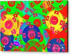 Poker Stacks Acrylic Print