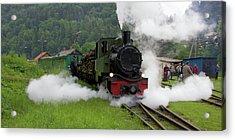Poland,podkarpackie, Bieszczady Steam Acrylic Print