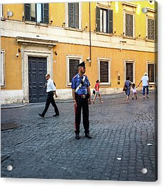 Police Officer Acrylic Print