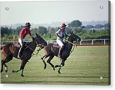 Polo In Italy Acrylic Print by Slim Aarons