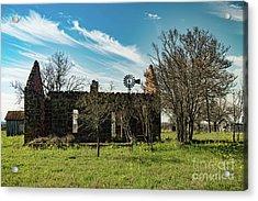 Pontotoc House Ruins Acrylic Print by Elijah Knight