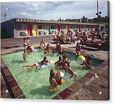 Poolside Fun At Arca Manor Acrylic Print
