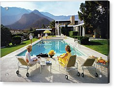 Poolside Glamour Acrylic Print