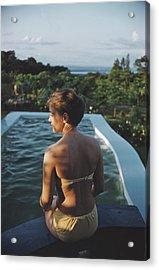 Poolside In Kenya Acrylic Print