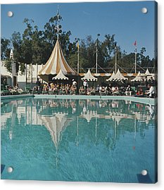 Poolside Reflections Acrylic Print by Slim Aarons