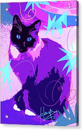 Pop Cat Cocoa Acrylic Print