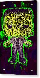Acrylic Print featuring the mixed media Frankenstein Pop 2 by Al Matra