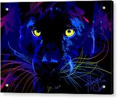 pOpCat Black Panther Acrylic Print