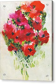 Poppy Bouquet Acrylic Print by Jan Griggs