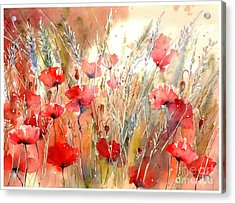 Poppy Fields Forever Acrylic Print
