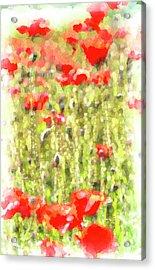 Poppy Meadow Monet Acrylic Print