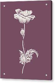 Poppy Purple Flower Acrylic Print