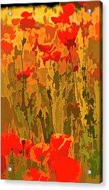 Poppy Ww1 Art Tribute Acrylic Print