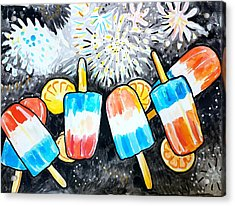 Popsicles And Fireworks Acrylic Print