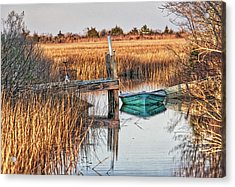 Poquoson Marsh Boat Acrylic Print