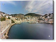 Port At Hydra Island Acrylic Print