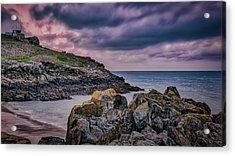 Porthgwidden Dramatic Sky Acrylic Print