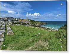 Porthmeor From Barnoon - St Ives Cornwall Acrylic Print