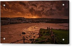 Porthmeor Sunset 2 Acrylic Print