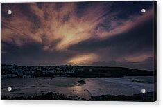 Porthmeor Sunset 4 Acrylic Print
