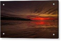Porthmeor Sunset Acrylic Print