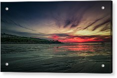 Porthmeor Sunset Version 2 Acrylic Print