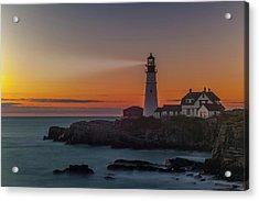 Acrylic Print featuring the photograph Portland Headlight by Rick Hartigan