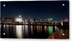 Acrylic Print featuring the photograph Portland Oregon Skyline 102118 by Rospotte Photography