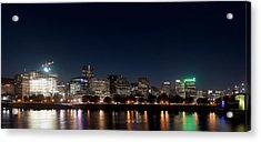 Acrylic Print featuring the photograph Portland Oregon Skyline V2 by Rospotte Photography