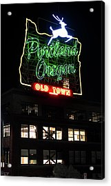 Acrylic Print featuring the photograph Portland Oregon White Stag 117 by Rospotte Photography