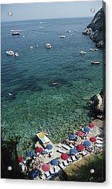 Porto Ercole Beach Acrylic Print