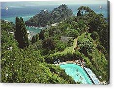 Portofino Villa Acrylic Print