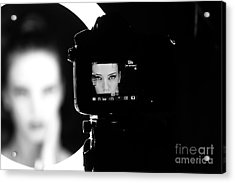 Portrait Of A Beautiful Girl Through Acrylic Print