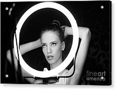 Portrait Of A Beautiful Woman In The Acrylic Print