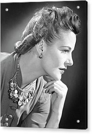 Portrait Of A Thinking Woman Acrylic Print by George Marks